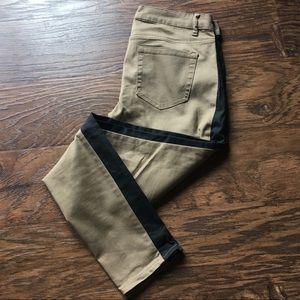 Stretchy Tan Black Pants